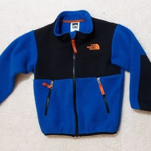The North Face blue sherpa jacket, 3T